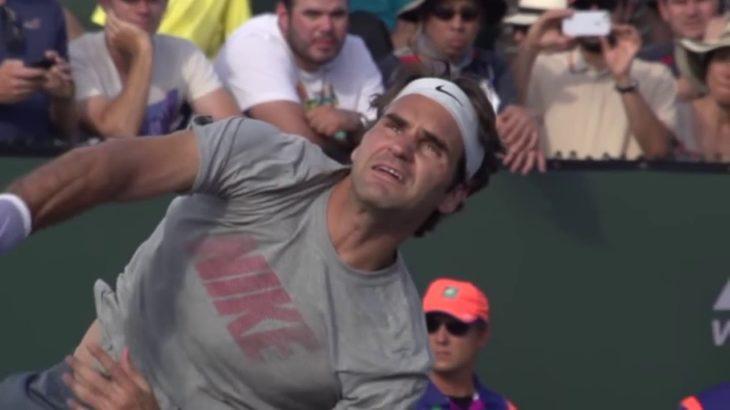 Federer  Serve – Forehand – Backhand  super slow motion              Tennis テニス 網球 网球 🎾