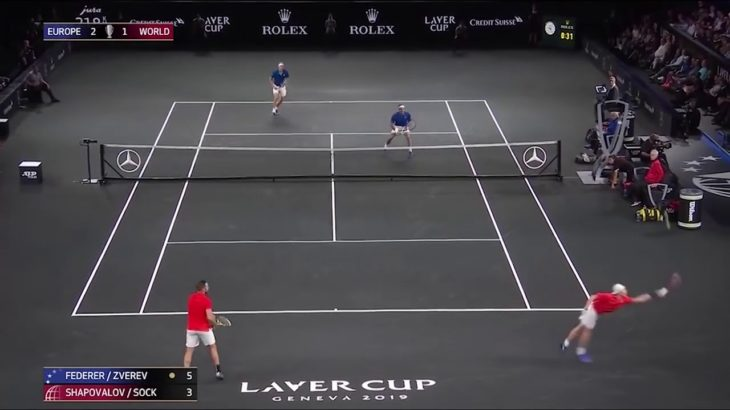 Federer (フェデラー) Zverev VS Shapovalov – Sock   Laver Cup