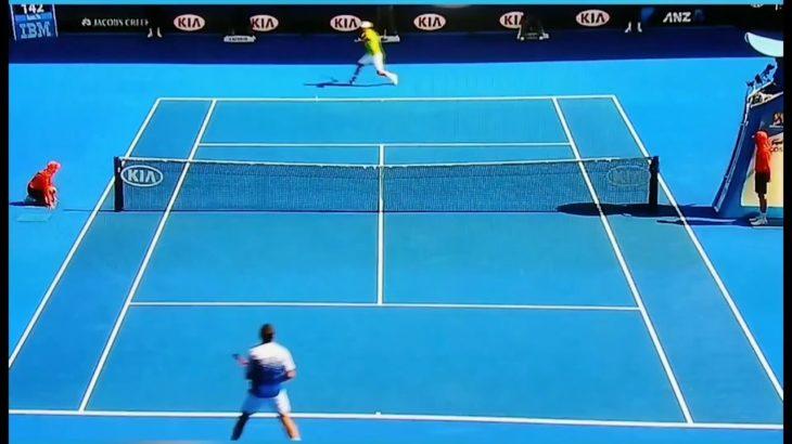 錦織圭 Kei Nishikori ワウリンカとのラインギリギリのラリー テニス錦織