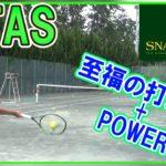 【テニス】究極の打球感とパワー!SNAUWAERT VITASシリーズ初打ち!