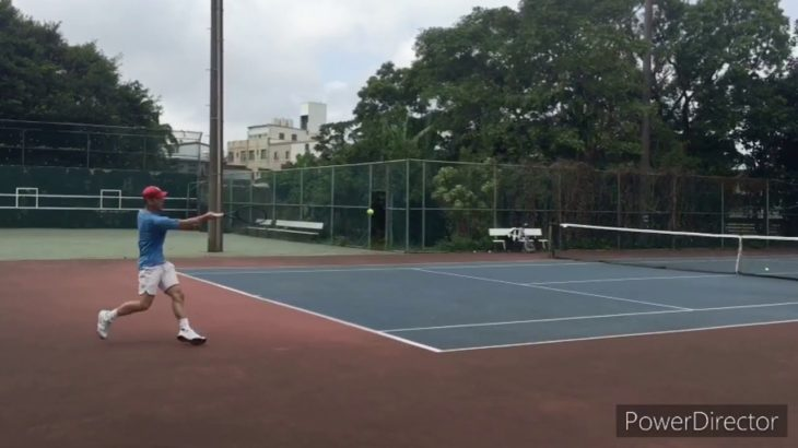 Serve – Forehand – One Handed Backhand   Slow Motion   Tennis 網球 テニス  网球
