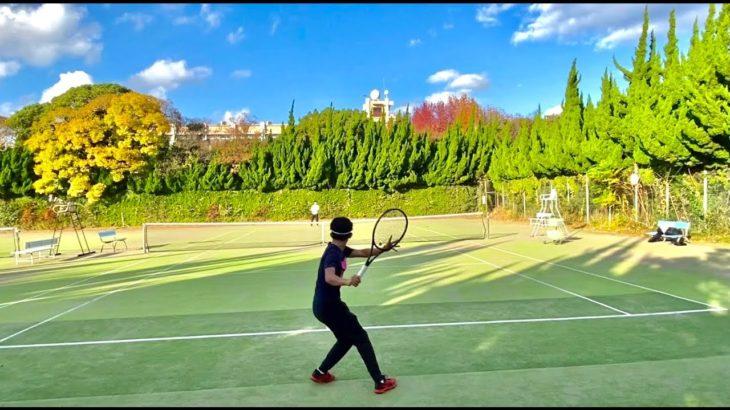 【テニス】大学生テニスプレーヤーのラリー練習|Straight Rally Practice:Tennis vlog#5