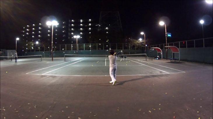 #TENNIS  #50's #Woman Practice . 20201108-2 #テニス #practice #boonee2 #バックハンド #backhand