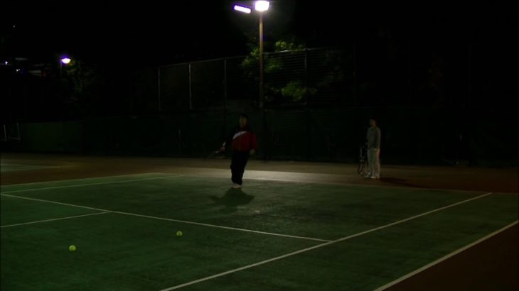 #TENNIS  #50's #Woman Practice . 20201115-4-1 #テニス #practice #boonee2 #サーブ #serve #courtlevel