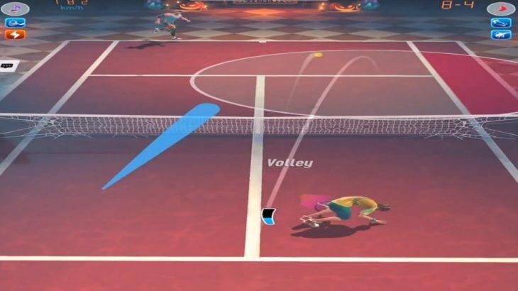 テニスクラッシュとてもボレーが冴えていた【Tennis Clash】