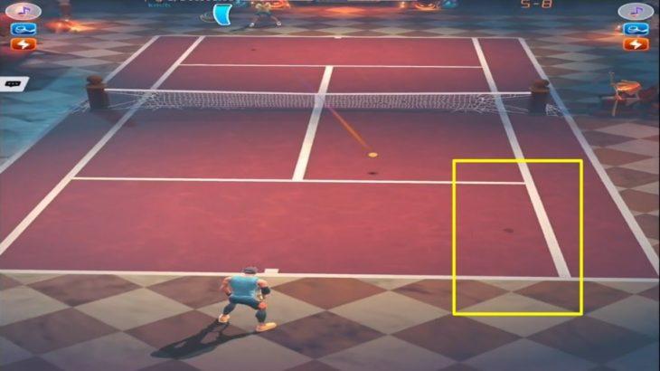 テニスクラッシュことごとくフォアハンド狙われた【Tennis Clash】