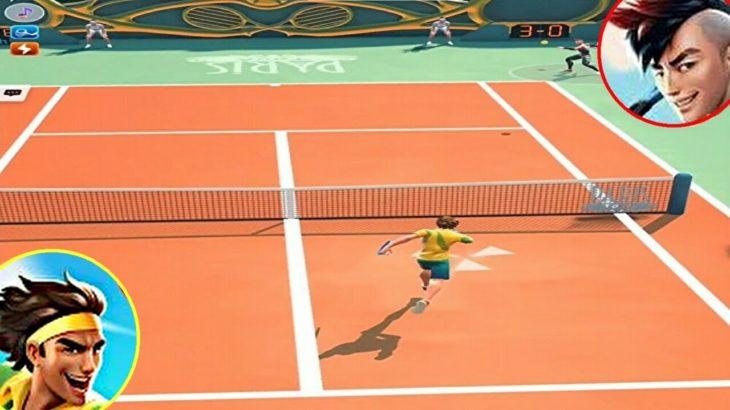 テニスクラッシュロブショットうまかった!【Tennis Clash】