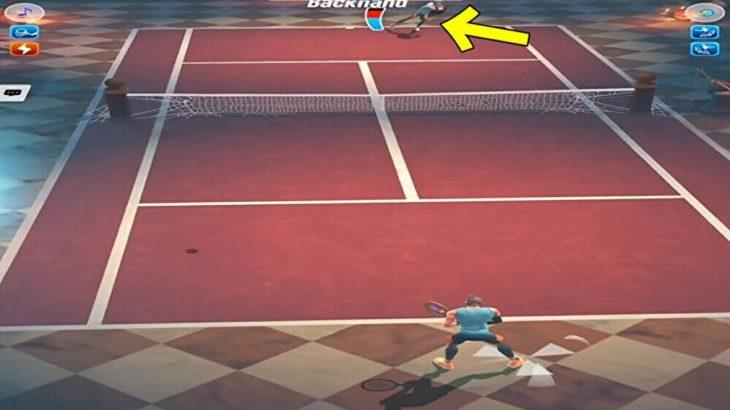テニスクラッシュ相手のバランスが崩れたところにもう一発【Tennis Clash】