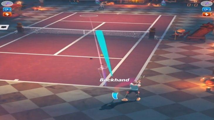 テニスクラッシュ際どいコース狙う【Tennis Clash】