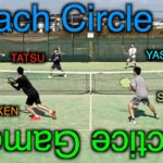 【テニス/ダブルス】Tennis Doubles Coach Circle Practice Game