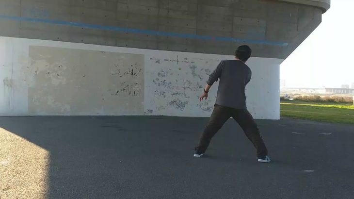 Tennis Wall     Forehand Slice  テニス 壁打ち フォアハンドースライス