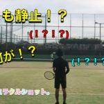 テニス [スーパーショット!?]  練習中のとあるポイント。