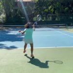 2020年打ち納め テニスジュニア ゲーム形式 小学生5年生 フットワーク、ラリー意識 Tennis Junior 10years  Girl practice Match