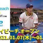 2021デルレイビーチ・オープンの放送予定と試合日程、錦織圭選手の出場はどうなる!?
