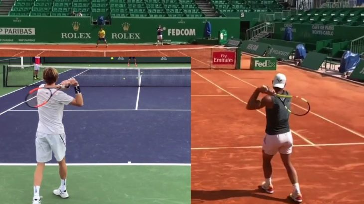 Andrey Rublev or Rafael Nadal Backhand Comparison ナダル、ルブレフのバックハンド比較