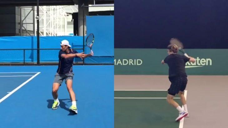 Andrey Rublev or Rafael Nadal Forehand Comparison ナダル、ルブレフのフォアハンド比較