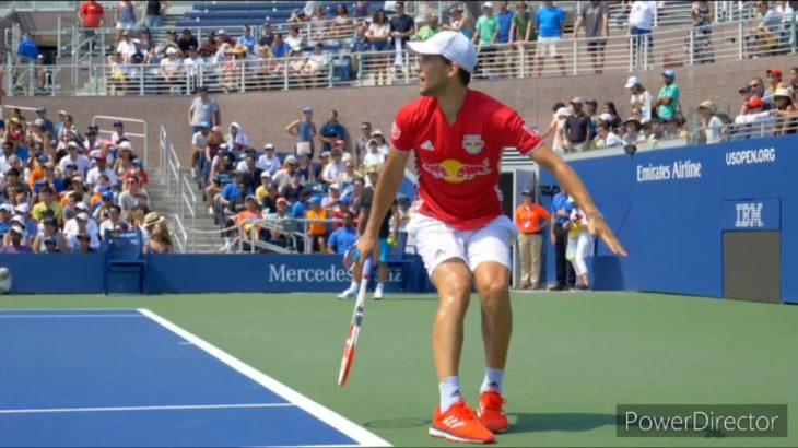 Dominic Thiem Forehand Backhand Slice Slow Motion      Tennis 網球 テニス  网球