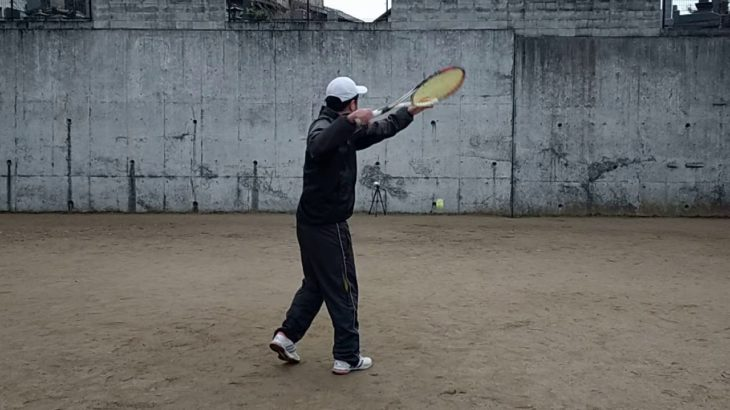 <『F N TENNIS CONSULTING』<CEO>2020/12/31(木)17:10~17:35【T PRIVATE】スイングエネルギー最大化を目指し『壁テニス』『CAMERA(2)』4/5