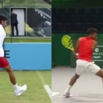 Felix Auger-Aliassime and Novak Djokovic Comparison アリアシムとジョコビッチの比較動画