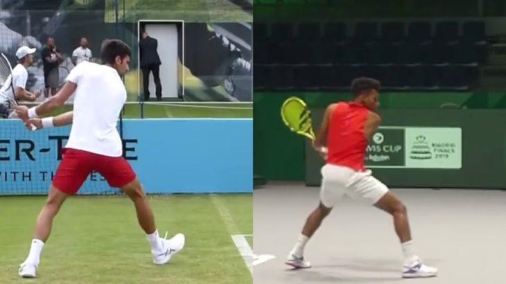 Felix Auger-Aliassime and Novak Djokovic Comparison アリアシムとジョコビッチの比較動画