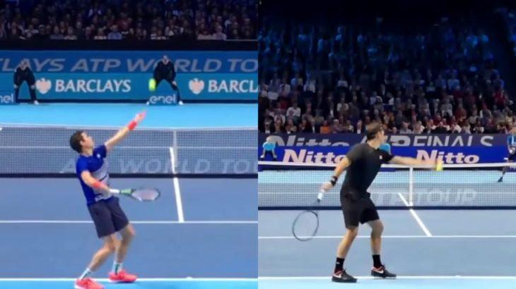 Roger Federer and Milos Raonic Comparison フェデラーとラオニッチの比較動画