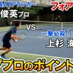 【テニス/TENNIS】フォア炸裂!松井俊英プロと上杉海斗プロのポイント練習①