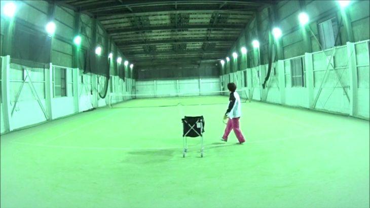 #TENNIS  #50s #Woman #Practice 20201209-3 #テニス #練習 #boonee2 #サーブ #serve