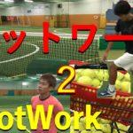 テニスフットワーク練習(シングルス)Tennis footwork practice (singles)