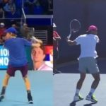 Yannik Ssinner or Rafael Nadal Forehand Comparison ナダル、シナーのフォアハンド比較