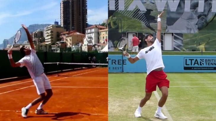 del Potro and Novak Djokovic Comparison ジョコビッチとデルポトロの動画