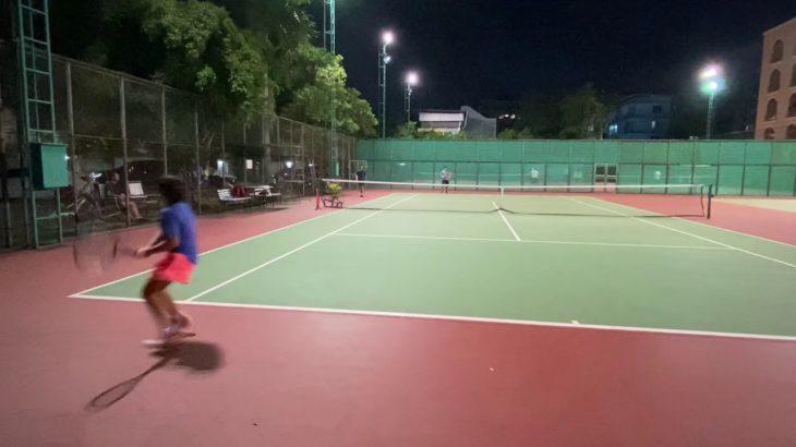 テニスジュニア10歳女子 サーブ 振り回し アプローチ ボレー tennis practice Serve Rally approach volley