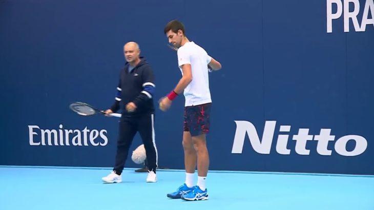 2019年Nitto ATPファイナルズ・プラクティス ノバク・ジョコビッチ(Novak Djokovic)/アレクサンダー・ズベレフ(Alexander Zverev)