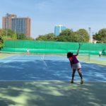 ※1ポイント※ 2021年初打ち サーブからのチャンスボールヒット!テニスジュニア 10歳女子