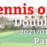 テニスオフ 2021/01/05 ダブルス 中級前後 Tennis Men's Doubles Practice Match Full HD