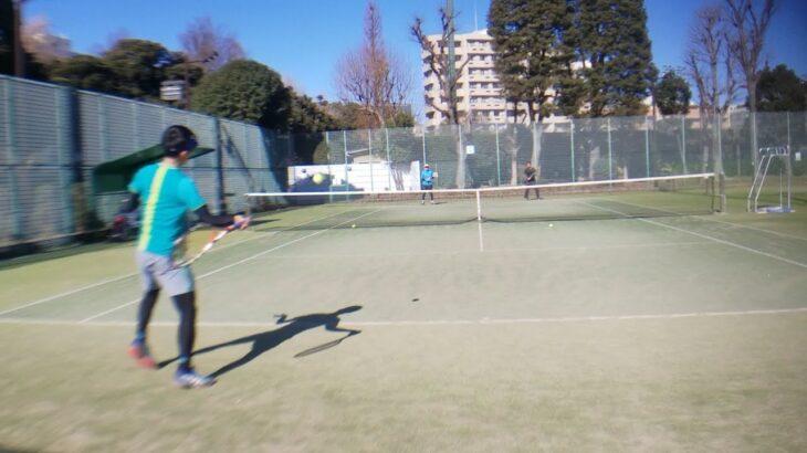 麻布テニス 2:1ストローク練習 全日本ベテランテニス