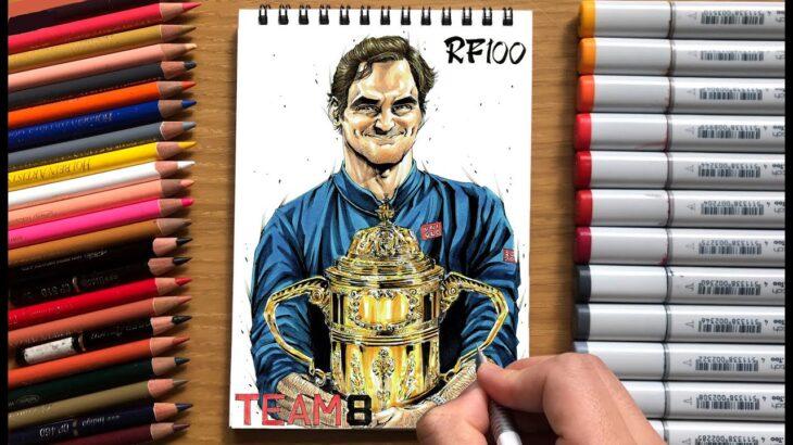 Drawing Roger Federer / ロジャー・フェデラーを描きました
