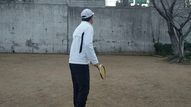 <『F N TENNIS CONSULTING』<CEO>2021/1/4(月)17:15~17:45【T PRIVATE】久々、自分史上最適理論での『壁テニス』『サーブ』『CAMERA(2)』2/3