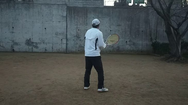 <『F N TENNIS CONSULTING』<CEO>2021/1/4(月)17:15~17:45【T PRIVATE】久々、自分史上最適理論での非利き手『壁テニス』『CAMERA(2)』3/3
