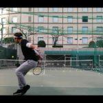 ヒルトン新宿で初テニス Hilton hotel tokyo practice tennis