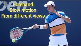 Kei Nishikori (錦織 圭) Forehand Practice Slow Motion 0.2X 0.5X From different views