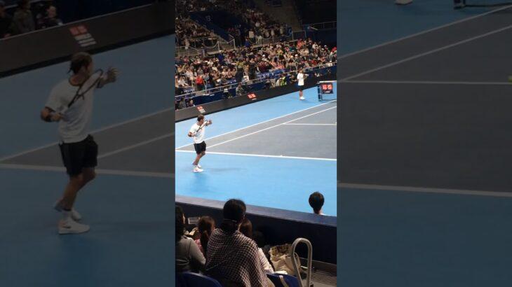【Shorts】フェデラーが日本でプレイする貴重な瞬間 Federer #Shorts