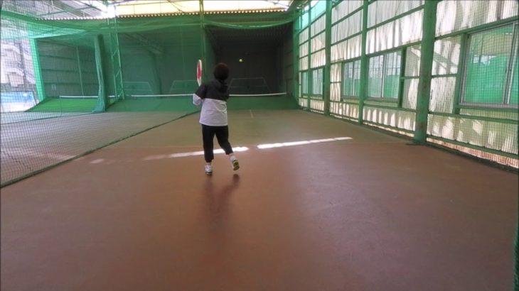 #TENNIS  #50s #Woman #Practice 20210106-2 #テニス #自主練習 #boonee2 #オートテニス #練習風景