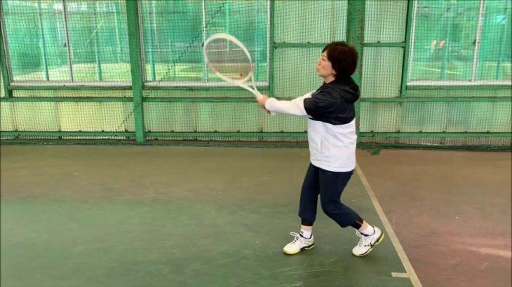 #TENNIS  #50s #Woman #Practice 20210106-3 #テニス #自主練習 #boonee2 #オートテニス #練習風景