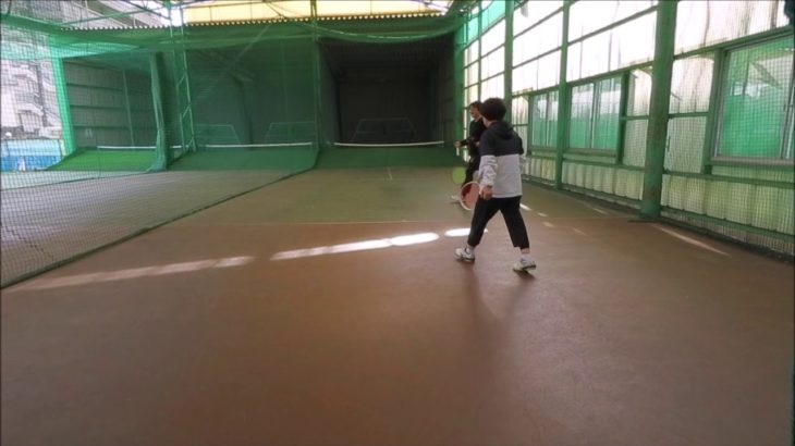 #TENNIS  #50s #Woman #Practice 20210106-4 #テニス #自主練習 #サーブ #serve #boonee2 #オートテニス #練習風景