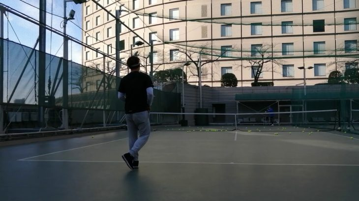 Tokyo hilton hotel tennis session テニス レッスン 東京