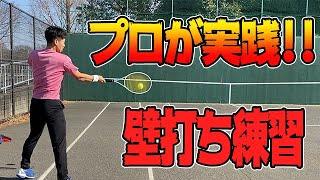 【秘伝】プロテニスプレイヤー斉藤貴史が伝授!!壁打ち練習法!Wall tennis by professional tennis player
