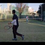 全日本ベテランテニス選手 ダブルスマッチ練① (東京都チャンピオンシップ インカレ)