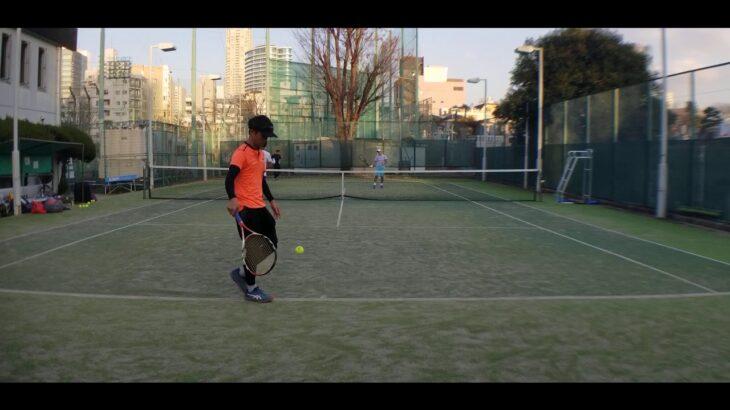 全日本ベテランテニス選手 ダブルスマッチ練②(東京都チャンピオンシップ インカレ)