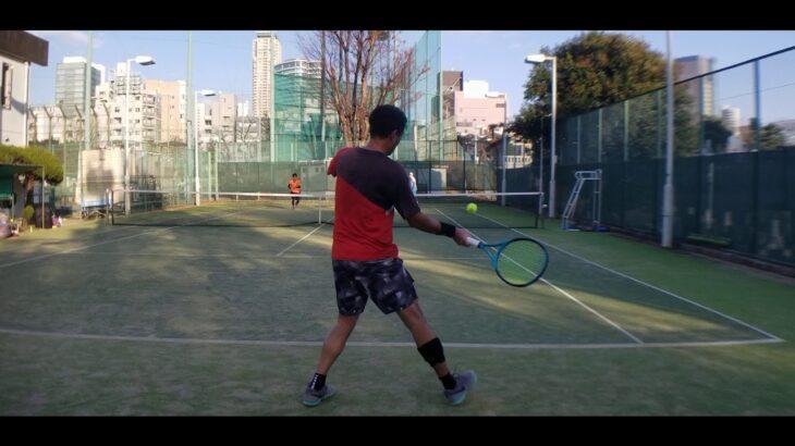 テニス サーブ&ボレー練習② 全日本ベテランテニス選手 東京都チャンピオンシップ インカレ