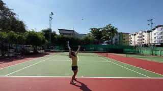テニスジュニア女子11歳 ゲーム形式2021年1月 Tennis junior girl 11years match practice Jan 2021